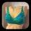6029 17.06 bikini-bh grön prickig