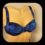 6039 17.16 bikini-bh bygel blå prickig
